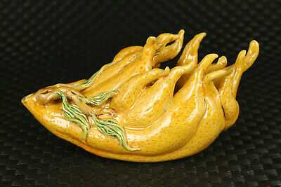 chinese jingdezhen porcelain royal buddha hand statue figure collectable