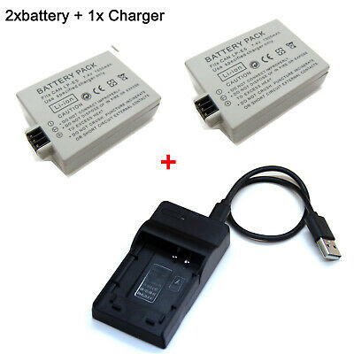 Battery / Charger For Canon EOS 1000D EOS 2000D EOS 450D EOS 500D EOS Kiss X2 X3