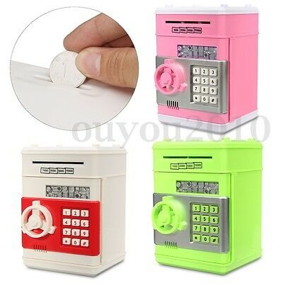 Mini Piggy Bank Electronic Password ATM Money Box Safety Machine Kids  G