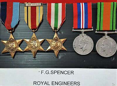 Ww2 British Army Africa & Italy Star Campaign Medal Group Royal Engineers