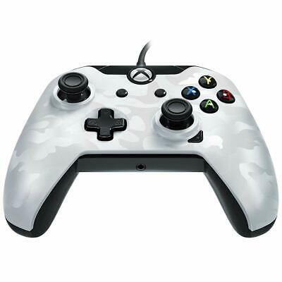 PDP Wired Controller for Xbox One - White Camo UK Freeshipping