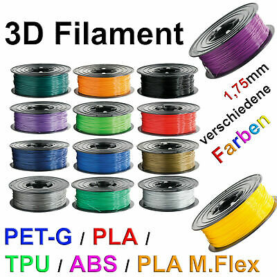 3D Drucker Filament 1kg Rolle PLA TPU ABS PETG 1,75mm /3mm Printer Spule vs