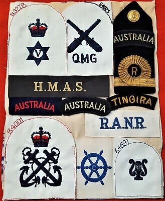 Ww1 & Ww2 Australian Navy Badge & Patch Lot Hmas Sydney