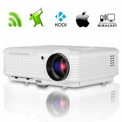 Smart 4500lumens HD LED Video Projector 1080p Andriod Wifi Home Cinema HDMI USB