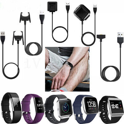 For Fitbit Charge 2/3/Blaze/Versa/Ionic/Inspire/Alta/Alta HR USB Charger Cable