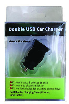 Double Usb Charger F82129 Rockland Genuine Top Quality Product New