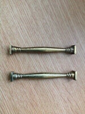 Antique Columns Quality Solid Brass 75x5mm Ex Clockmakers Spare Parts Collection