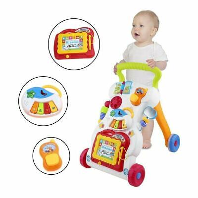 Baby Multifunction Music Walker Toddler Kid Push Activity Colourful Toys