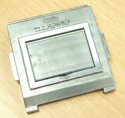 Le Coultre Co. COMPASS CAMERA Film & Glass PLATE BACK Made in Switzerland