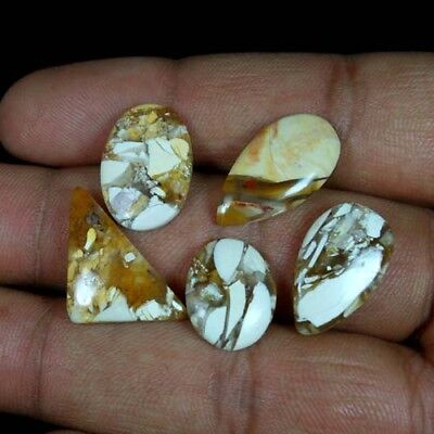 28.40Cts.100%NATURAL BRECCIATED MOOKAITE JASPER MIX CABOCHON LOT LOOSE GEMSTONES