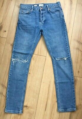 TOPMAN SKINNY JEANS SIZE 32s STRETCH / RIPPED