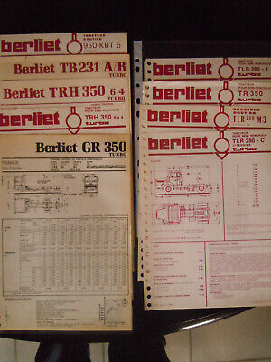 lot 9 BROCHURES FICHES TECHNIQUE CAMION   BERLIET