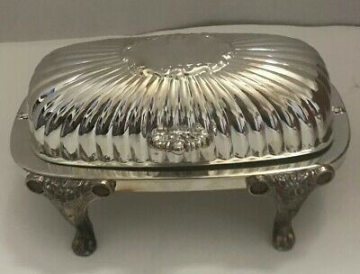 Fb Rogers Silver Plate Roll Top Butter Dish #357