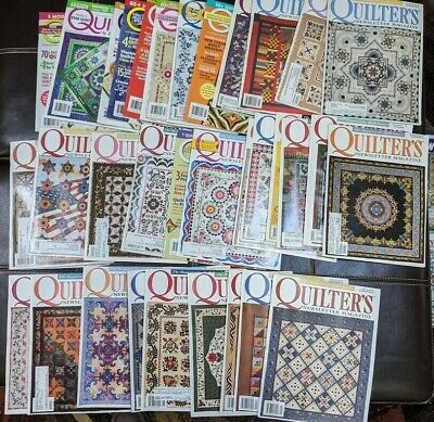 Lot (33) Quilter's Newsletter Quilting Magazine
