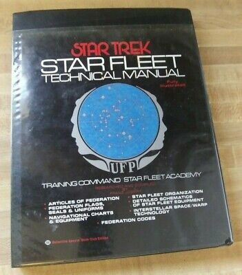 Vintage Star Trek Star Fleet Technical Manual 1975 Balentine TM: 379260