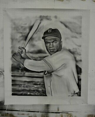 """Jackie Robinson  Painting in oil on canvas by Joe Blah…36"""" x 42"""""""