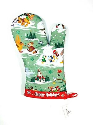 Disney Parks 2019 Happy Holidays Warm Winter Wishes Oven Mit New