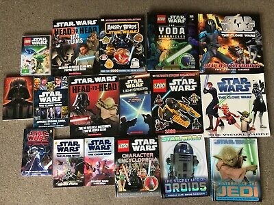 Star Wars collectible books x16 clone wars, LEGO lightsabers, magazine DVD novel