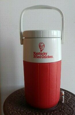 Vintage Old Coleman KFC cold water Flask Thermos bottle