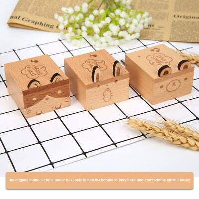 Cartoon Animal Exquisite Wooden Hand Cranked Music Box Home Crafts Gifts