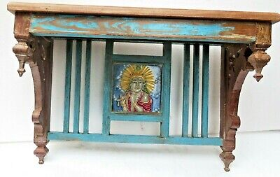Reclaimed shabby chic Wooden Rack kitchen / bathroom lintel Wood top decor tile