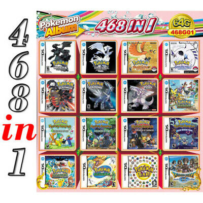 Hot 468 in 1 Game Card Pokemon Cartridge For Nintendo DS NDS NDSL NDSi 2DS 3DS