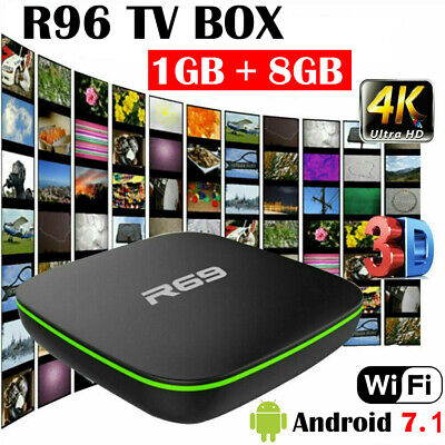 4K HD R69 Android 7.1 Smart TV Box 2+16GB Quad Core 3D WIFI Media Players 2019
