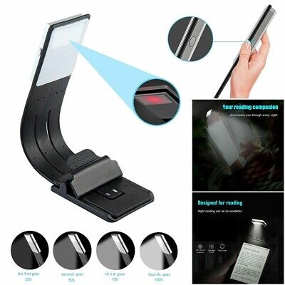 Portable LED Reading Book Light With Detachable Magnetic Clip USB Rechargeable