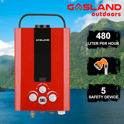 GASLAND Gas Hot Water Heater Portable LPG Camping Outdoor Shower Stand Caravan