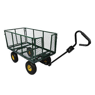 XXL transport trolley 550kg with removable tarpaulin and storage grid