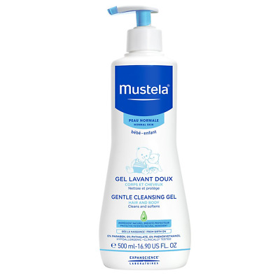 Mustela Gentle Cleansing Gel 500ml Hair And Body - Cleans And Softens