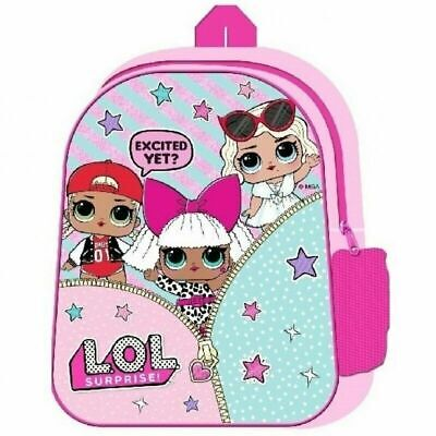School Bags for Girls Pink Backpack LOL Dolls Confetti Pop L.O.L.Surprise