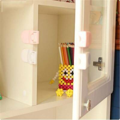 Safety Lock Right Angle Wardrobe Door Drawers Anti-opening Children Protect J