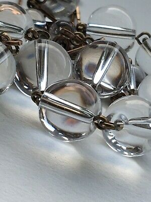 art deco Vintage Style Pools Of Light Rock Crystal Glass bead Paste necklace