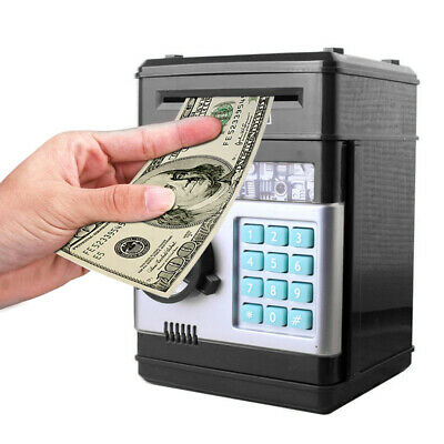 Electronic Mini Pink ATM Coin money counter saving piggy bank Password Cash Box