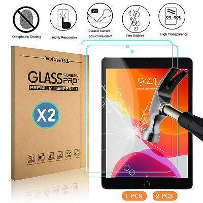 """For iPad 10.2"""" 2019 7th Generation Tablet Clear Tempered Glass Screen Protector"""