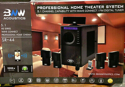 BNW Acoustic SR-44 home theater 5.1 surround system. Barely used.