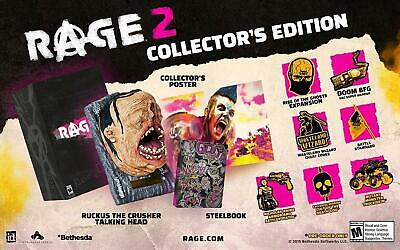 * Playstation 4 NEW SEALED Game * RAGE 2 Collector's Edition * PS4