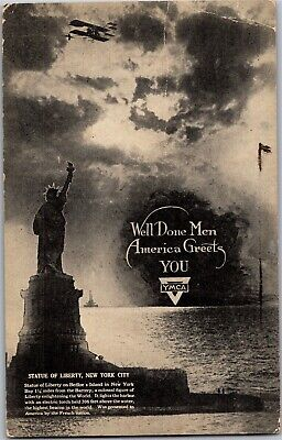 YMCA Well Done Men, America Greets You Post-WWI Vintage Postcard R32