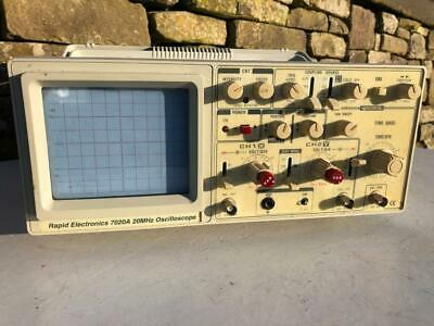 Vintage Rapid Electronic 7020A Analogue Oscilloscope Powers Up Ok Test Equipment