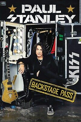 Signed Paul Stanley Backstage Pass Book KISS gene simmons ace frehley peter cris