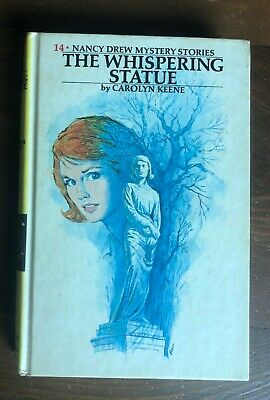 Vintage Nancy Drew Mystery #14 WHISPERING STATUE Yellow Matte Edition