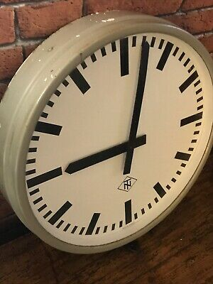 "Vintage Huge 17"" Telenorma West  German Industrial Factory /station Clock"