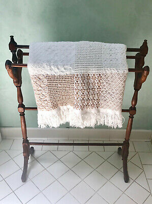 Vintage Antique Blanket/Quilt/Towel Rack Stand - Solid Wood