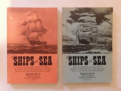 Prestons SHIPS & SEA Vintage Nautical Items Catalogues.Wooden.Book.Hobby