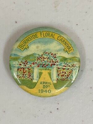 WW2 1940 Burnside Floral Carnival Button Badge Red Cross FFCF YMCA Legacy SA