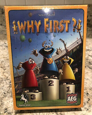 Why First? Simon Havard AEG Board Game - **Brand New** Sealed!!!