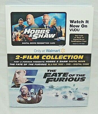 HOBBS & SHAW-The Fate Of The Furious 2 Film Blu-Ray+DVD+Digital W/Slipcover MINT