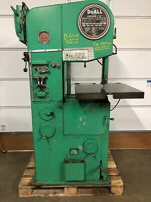 DoAll Vertical Bandsaw For Metal Cutting, Model 16-2