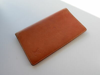 Louis Vuitton Notebook Cover Nomad Nomadline Leather Brown Auth Rare F/S #3355P